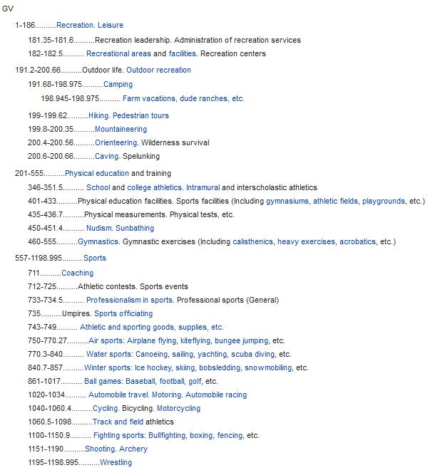 LOD numerical subject headings