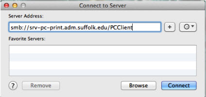 screenshot of URL input