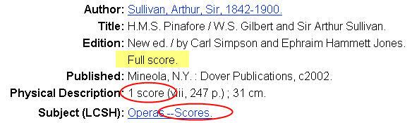 full score record