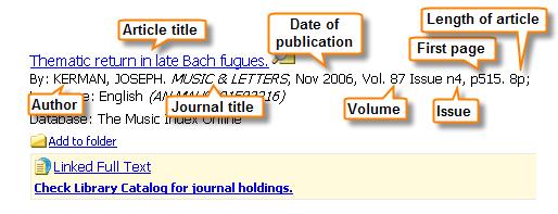 journal citation