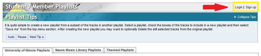 member playlists