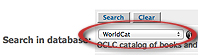 Image Screen shot of WorldCat search option in FirstSearch interface