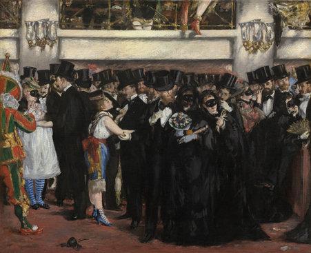 Image: Edouard Manet. Masked Ball at the Opera.