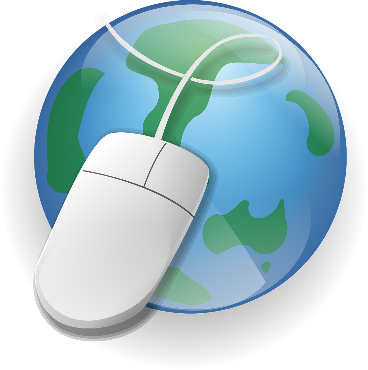 Computer Mouse on Globe