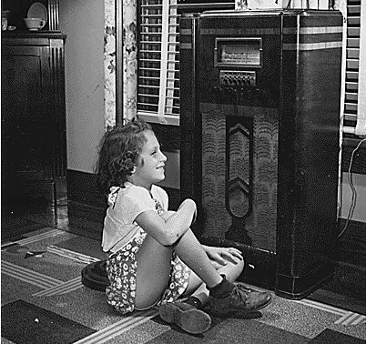 Girl listening to radio