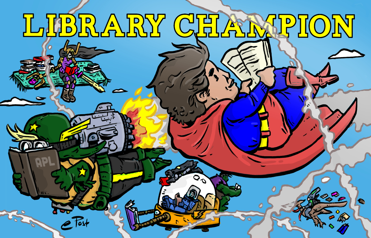Library Champion ibrary Card Graphic