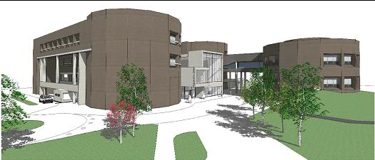 Architectural Drawing of Remodeled Library Entrance