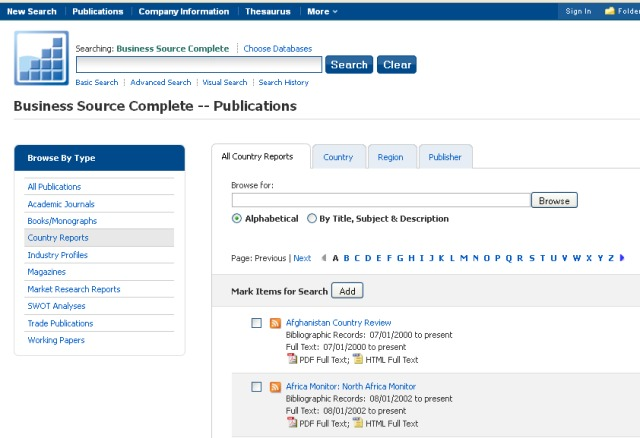 Country Reports (EBSCO)
