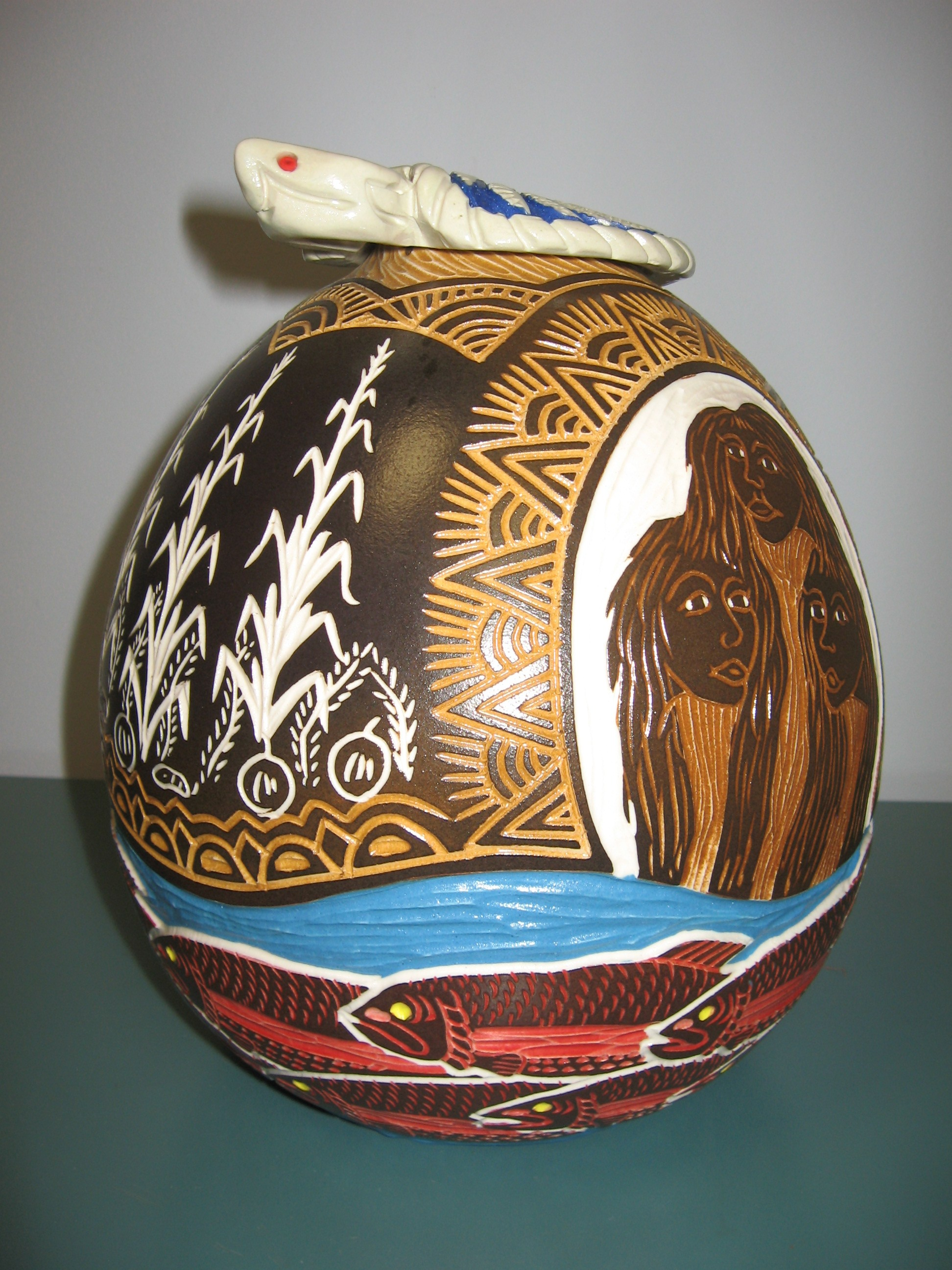 Turtle Seed Pot, Steven T. Smith, Centennial College Libraries
