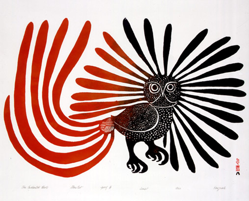 The Enchanted Owl 1960 by Kenojuak Ashevak, McMichael Canadian Art Collection, Virtual Museum