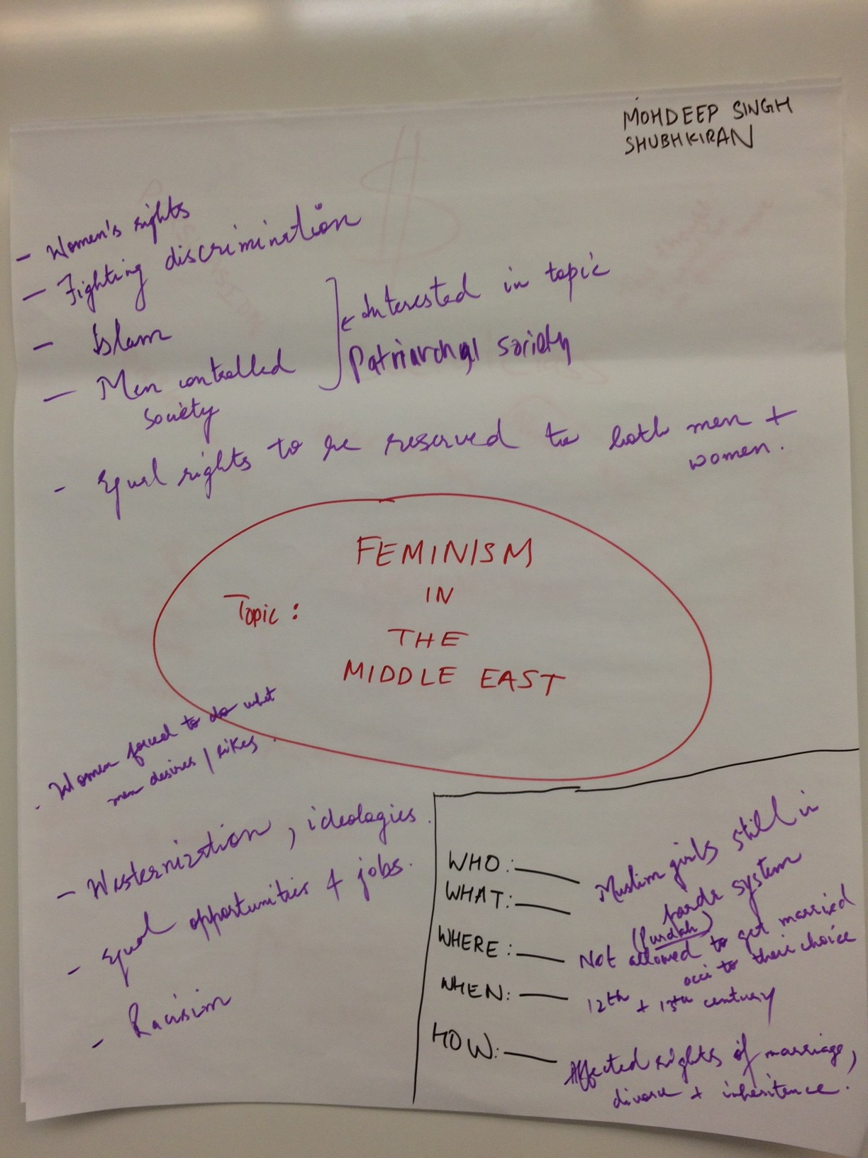 Student Concept Map - Feminism in the Middle East