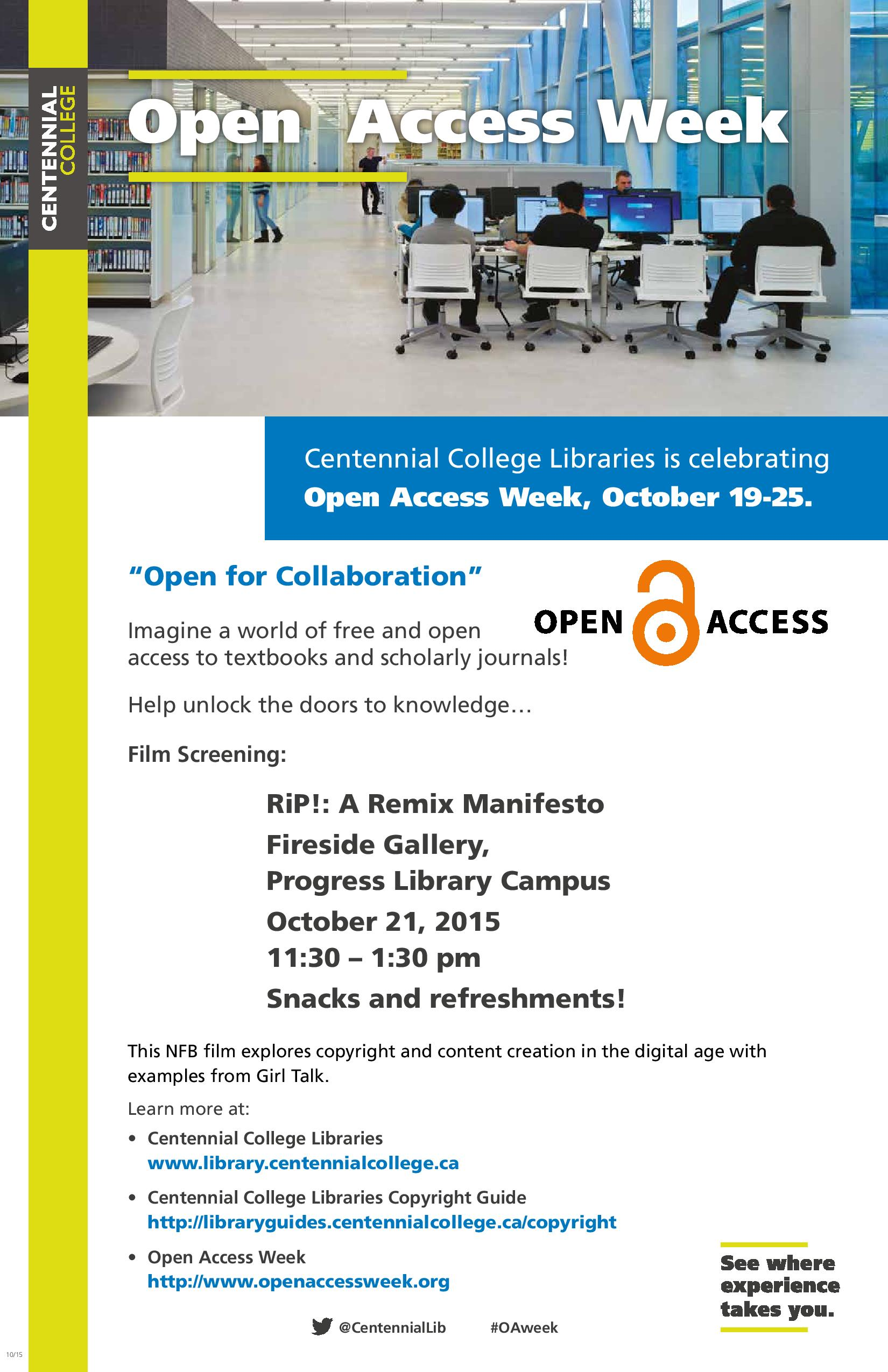 Open Access Week 2015 Poster