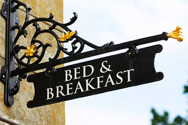 image of bed and breakfast sign