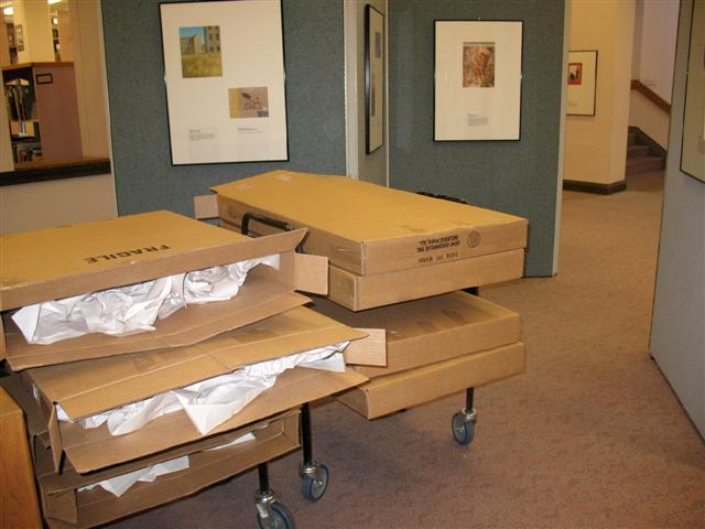 Each work was packed individually