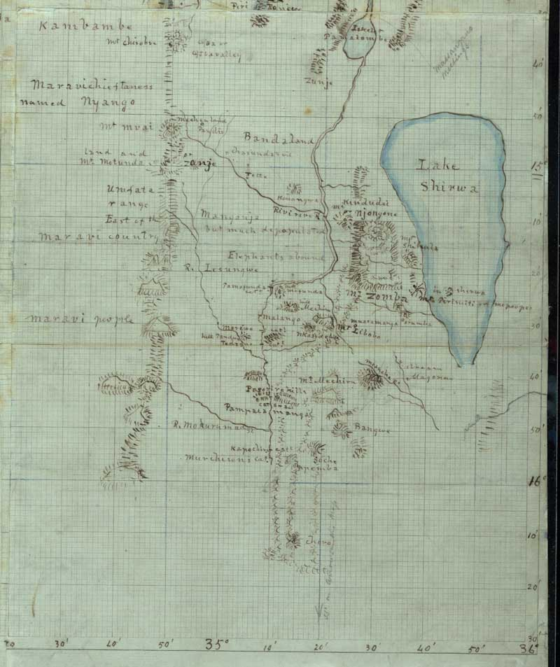 Livingston 1863 Exhibition Map