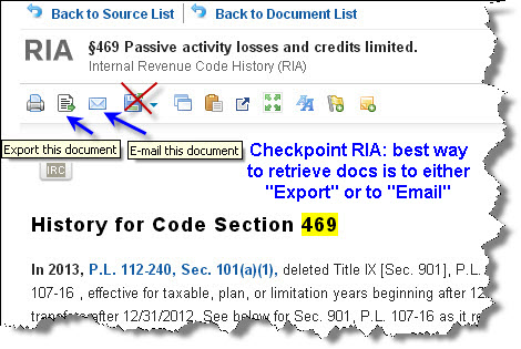 Checkpoint RIA - Retrieving Documents