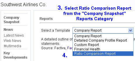 Factiva: Finding Ratio Comparison Reports