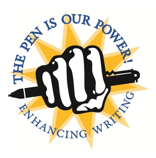 Image of a fist holding a pen - logo for the QEP