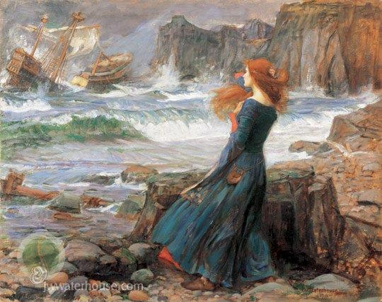 John Waterhouse painting of The Tempest