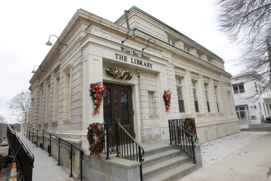The Library Wine Bar and Bistro from the outside