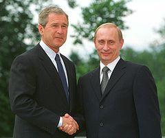 Bush - Putin summit in Slovenia in 2001.