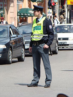 Czech Police (Policie České Republiky) officer in Český Těšín (Czeski Cieszyn)