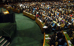 The 62nd General Assembly of the United Nations begins on September 25, 2007. According to tradition since the 1970's, a Brazilian gives the inaugural speech.