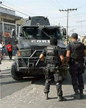 Special police car of Rio de Janeiro