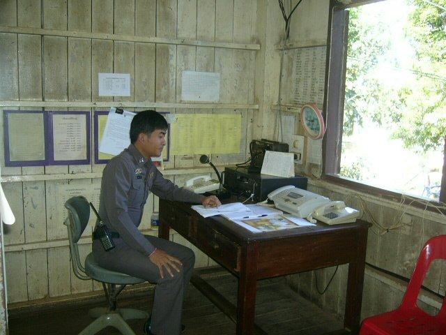 Funksprecher der Polizei Na Wa, Provinz Nakhon Phanom, Thailand