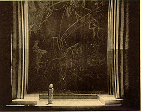 Model by Lee Simonson for Act II of Gluck's  Iphigenia in Tauris