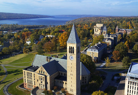 Cornell campus with Clocktower picture