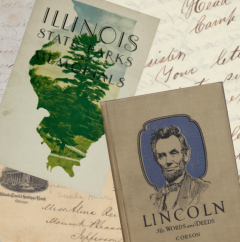 Composite image of selected print and manuscript items from the IHLC