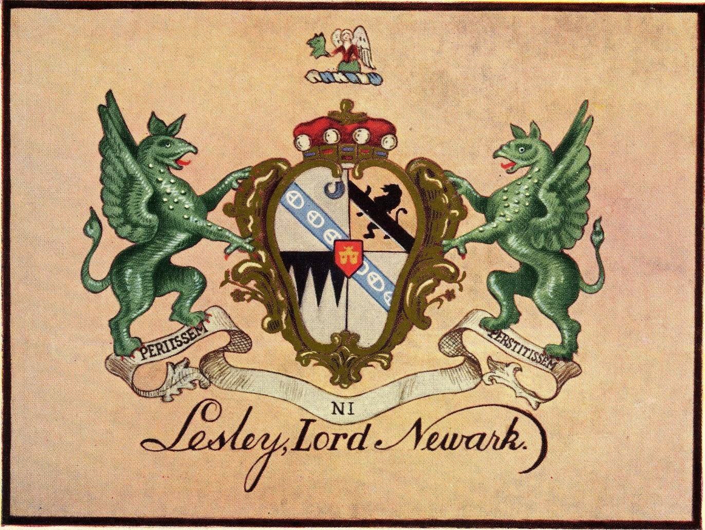 Lesley family coat of arms