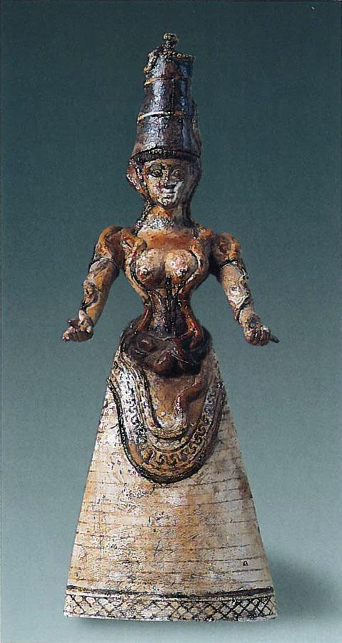 Cretan Snake Goddess statuette