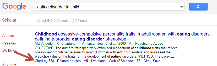 Cited by in Google Scholar