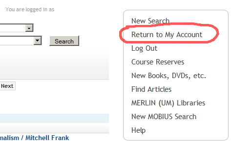 "screenshot showing ""return to my account"" button"