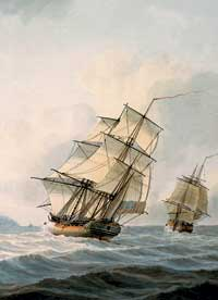Ship from Captain Cook's voyage to Hawaii