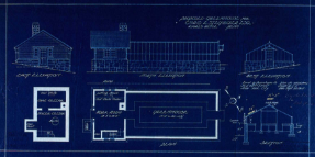 Lord & Burnham blueprint for proposed greenhouse