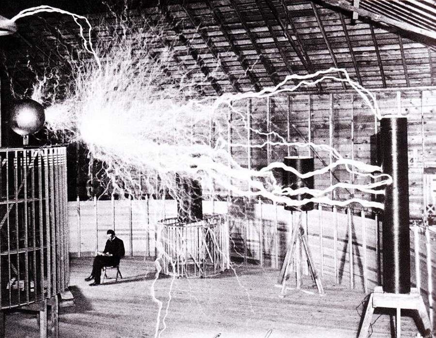 Tesla's laboratory