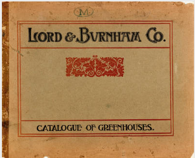 Lord and Burnham Co. catalog of greenhouses