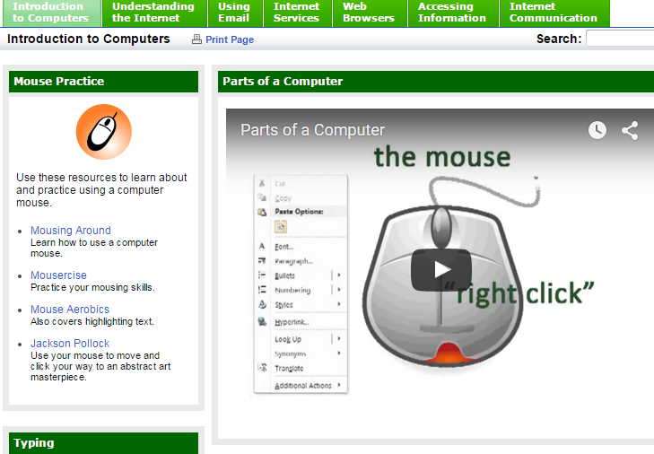 A screenshot of the OST 140:Internet Communication and Research Libguide