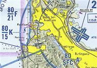 Image of an aeronautical map