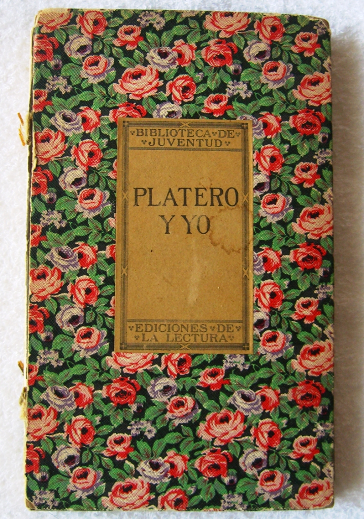 Picture of the first edition of Platero y Yo