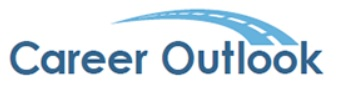 "logo image for the Bureau of Labor Statistics webpage called ""Career Outlook"""