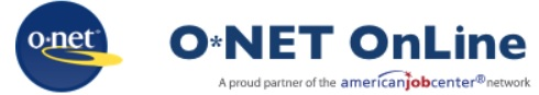 Image of the logo for O Net Online produced by the US Department of Labor