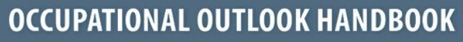 """An image of the logo of the """"Occupational Outlook Handbook"""" published by the US government"""