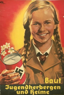 youth nazi collecting donations
