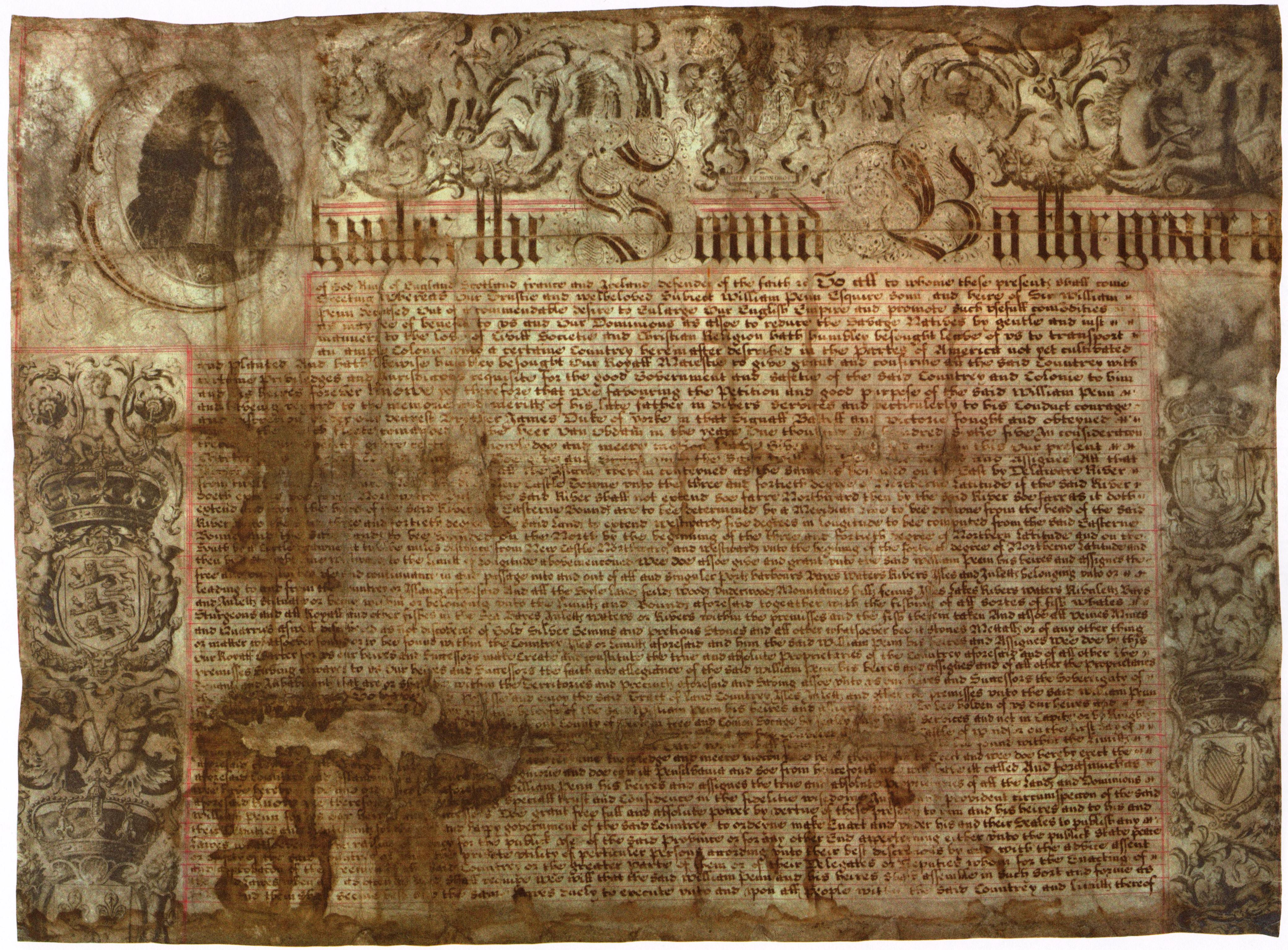 Charter of Pennsylvania, 1681