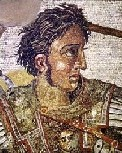 http://commons.wikimedia.org/wiki/File:BattleofIssus333BC-mosaic-detail1.jpg   Alexander the Great