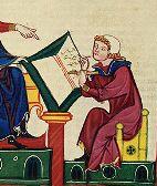 http://commons.wikimedia.org/wiki/File:Codex_Manesse_Konrad_von_W%C3%BCrzburg.jpg scribe